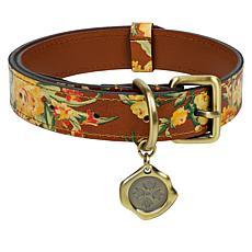 Patricia Nash Adjustable Leather Pet Collar - Medium