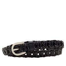 Patricia Nash Atina Woven Leather Chain-Link Belt