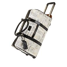 Patricia Nash Avola Coated Canvas Trolley Duffle Bag