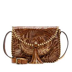 Patricia Nash Beaumont Tooled Leather Shoulder Bag
