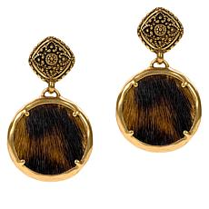 Patricia Nash Carina Leather Charm Drop Earrings