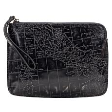 Patricia Nash Cassini Metallic-Embossed Leather Wristlet