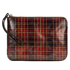 Patricia Nash Cassini Tartan Leather Wristlet