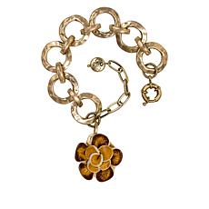 Patricia Nash Celeste Leather Flower Drop Bracelet