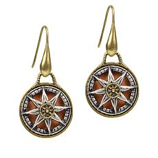 Patricia Nash Colored Compass Drop Earrings