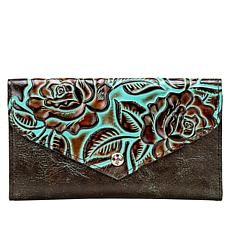 Patricia Nash Cori Bifold Tooled Leather Envelope Wallet with RFID