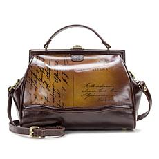 Patricia Nash Discovery Brianza Leather Postcard Frame Satchel