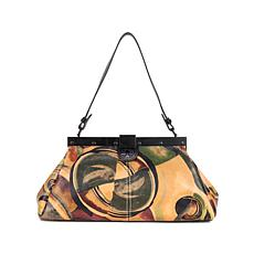 Patricia Nash Ferrara Graffiti Leather Frame Satchel