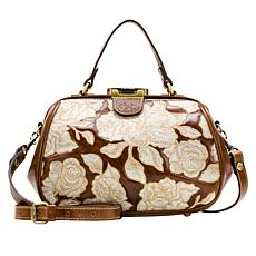 Patricia Nash Gracchi Leather Embroidered Frame Satchel