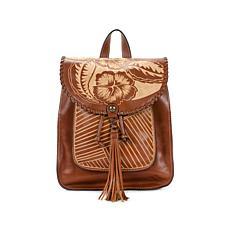 Patricia Nash Jovanna Carved Leather Backpack