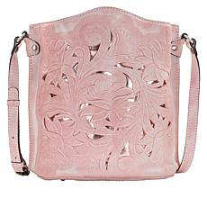 Patricia Nash Lavello Tooled Leather Sling Bucket Bag
