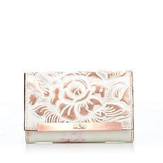 Patricia Nash Leather White/Copper Cametti Wallet