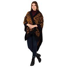 Patricia Nash Leopard Jacquard Knit Shawl