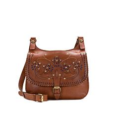 Patricia Nash London Leather Western Cutout Saddle Bag