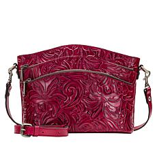Patricia Nash Lorraine Leather Triple-Zip Crossbody Bag