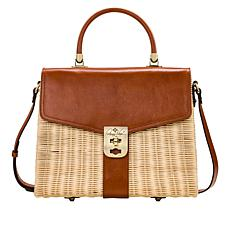 Patricia Nash Mayenne Spring Wicker Flap Bag