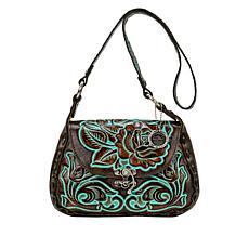 Patricia Nash Micaela Tooled Leather Shoulder Bag