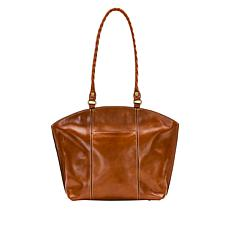 Patricia Nash Michel Leather Dome Zip-Top Tote