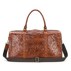 Patricia Nash Milano Tooled Leather Weekender