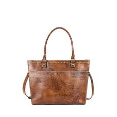 Patricia Nash Navelli Leather Tote - Signature Map