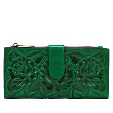 Patricia Nash Nazari Rose Tooled Leather Bifold Wallet