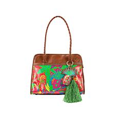 Patricia Nash Paris Printed Leather Large Satchel