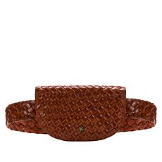 Patricia Nash Ponticelli Woven Leather Belt Bag