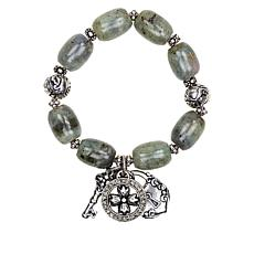 Patricia Nash Romantic Travel Beaded Stone Stretch Bracelet