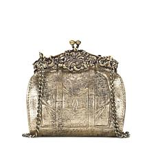 Patricia Nash Rosaria Glitter Metallic Leather Evening Bag