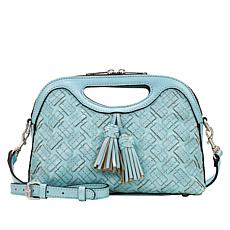 Patricia Nash Sora Braided Stitch Leather Cutout Satchel