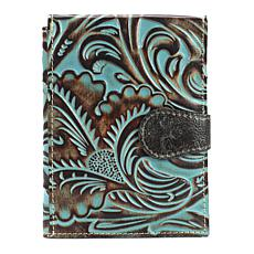 Patricia Nash Turquoise Tooled Leather Passport Travel Case