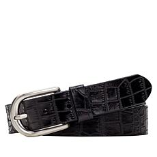 Patricia Nash Vietri Croco-Embossed Leather Belt