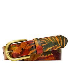 Patricia Nash Vietri Tropical Dreams Adjustable Leather Belt
