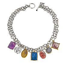 "Patricia Nash World Stamp 18"" Dangle Necklace"