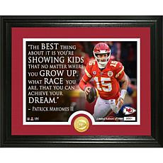 Patrick Mahomes Quote Bronze Coin Photo Mint
