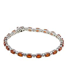 Paul Deasy Gem Orange Kyanite and White Zircon Line Bracelet