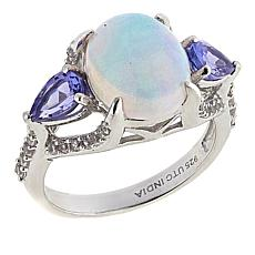 Paul Deasy Gem Oval Gem, Tanzanite and White Zircon Ring
