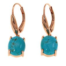Paul Deasy Gem Rose Gold-Plated Kingman Turquoise Drop Earrings