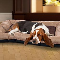PAW Plush Tan Cozy Pet Crate Bed - Medium