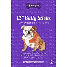 PawsGive  Bully Sticks for Dogs 12 in - 5 Sticks