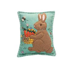 Penny Basket Rabbit Applique Pillow