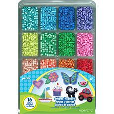 Perler Fused Bead Tray Stripes 'n Pearls 4,000 Count - 2-pack
