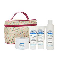 Perlier Double Latte 4-piece Set with Tote