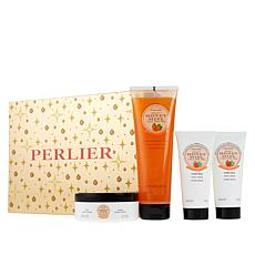 Perlier Honey Tangerine and Mint 4-Piece Holiday Set