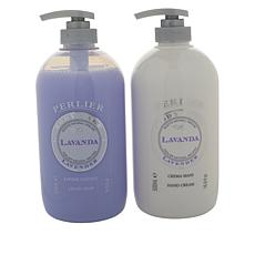 Perlier Lavender 2-piece Hand Cream and Soap Set
