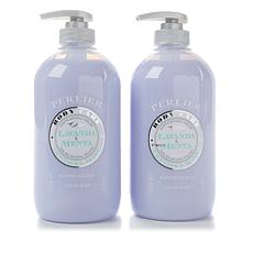Perlier Lavender and Mint Liquid Soap Duo