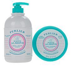 Perlier White Almond Shower and Body Cream 2-piece Set