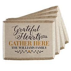 Personal Creations Personalized Grateful Hearts Placemats - Set of 4