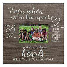 "Personalized 11-1/2"" Wall-Mounted Wooden Picture Frame - ""Our"" Version"