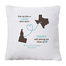"Personalized ""Close at Heart"" Throw Pillow - 15"" x 15"""